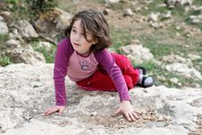 Free Little Girl On The Rock Royalty Free Stock Photos - 8537788