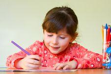 Free Girl Drawing Royalty Free Stock Photos - 8538598