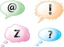 Free Speech Bubble Icons Stock Photography - 8538782