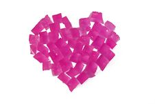 Heart From Ice Slices Royalty Free Stock Photos