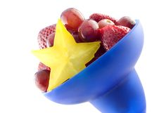 Free Colorful Bowl Of Mixed Fruit With Starfruit Royalty Free Stock Photos - 8539158