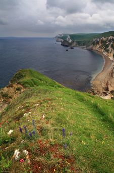 Free Dungy Head - Vertical View - Dorset Coast, England Stock Photography - 8539372