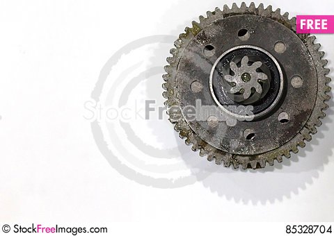 Free Titanium And Steel Gears Oil Stock Images - 85328704