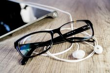 Free Close-up Of Eyeglasses On Table Royalty Free Stock Photo - 85361345