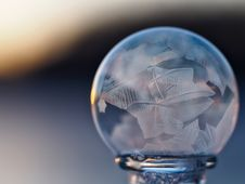Free Close-up Of Crystal Ball Against Blue Background Royalty Free Stock Photo - 85361935