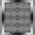 Free Abstract Metallic Pattern In A Silver Framework Stock Photo - 8540150