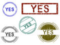 Free 5 Grunge Effect Office Stamps - YES Stock Photography - 8545442
