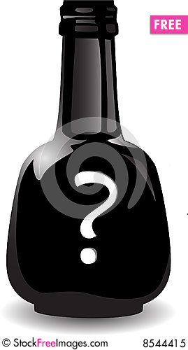 Free the vector black bottle of the poison royalty free stock photo