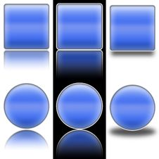 Free Button Web Blue Square And Round Royalty Free Stock Photos - 8540148