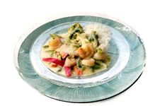 Free Vegetarian Green Curry Dinner Royalty Free Stock Photography - 8540317