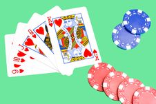 Free Straight Flush Royalty Free Stock Image - 8540626