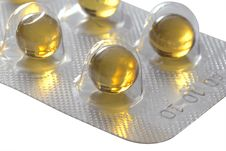 Capsules In Blister Pack Royalty Free Stock Photos