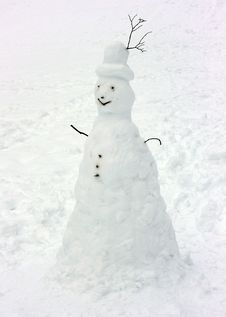 Free Snowman Royalty Free Stock Photography - 8540657