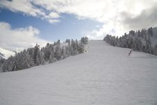 Free Ski Slope In Italian Dolomites Royalty Free Stock Photos - 8540788