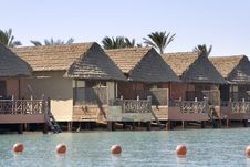 Free Lagoon Front Cabins - Red Sea (Egypt) Royalty Free Stock Images - 8541479
