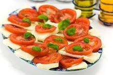 Fresh Salad With Tomato And Mozzarella Stock Image