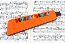 Free Toy Pipe And Sheet Music Stock Images - 8542074