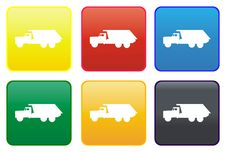 Dumper Truck Web Button Royalty Free Stock Photos