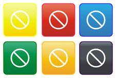 Free Ban Web Button Stock Image - 8542191