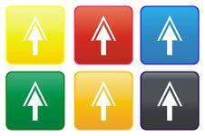Arrow Web Button Stock Image