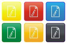 Paper Card Web Button Stock Photos