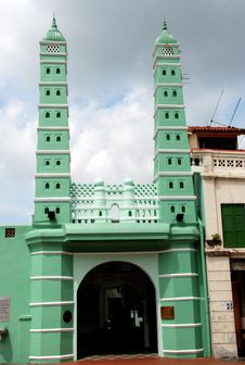 Free Singapore: 1826 Jamae Chulia Mosque Stock Images - 8543244