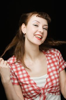 Free Smiling Pin-up Woman Stock Photos - 8543903