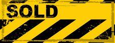 Vector Grunge Danger Banner Royalty Free Stock Image