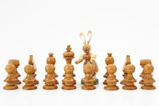 Free Chess And Easter Royalty Free Stock Photography - 8544087