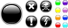 Free The Vector Danger Color Buttons Stock Photo - 8544220