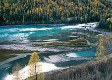 Free China/Xinjiang: Lying Dragon Bay In Kanas Royalty Free Stock Image - 8544286