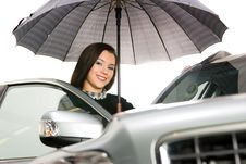 Free Pretty Women And Car Stock Photography - 8544312