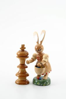 Chess And Easter Stock Photo