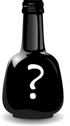 Free The Vector Black Bottle Of The Poison Royalty Free Stock Photo - 8544415