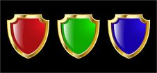 Free Shield Set Royalty Free Stock Photos - 8544418