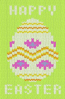 Free Knitted Easter Card Stock Photo - 8544480