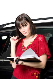 Free Businesswoman And Car Royalty Free Stock Photography - 8544787