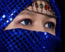 Blue Eyes Orient Stock Image