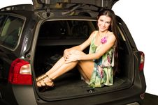 Free Girl And Car Royalty Free Stock Images - 8545409