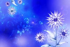 Free Blue Asters Background Royalty Free Stock Images - 8545749