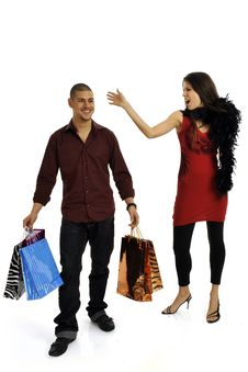 Free Shopping Couple Stock Photos - 8545853