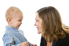 Free Mother And Son Stock Photos - 8546033