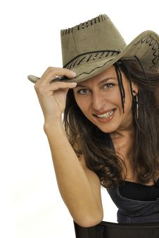 Free Smiling Cow-girl Royalty Free Stock Image - 8546046
