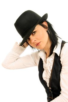 Free Business Woman With Hat Royalty Free Stock Images - 8546179