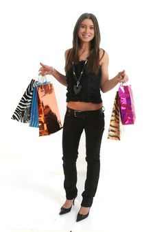 Free Shopping Girl Royalty Free Stock Image - 8546306