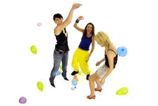 Women Playing Together Stock Photo
