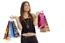 Woman And Shopping Stock Photos