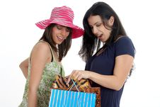 Free Two Girls Going Shopping Royalty Free Stock Images - 8546709