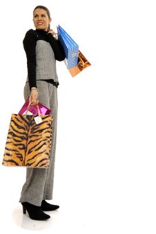 Free Business Woman Going Shopping Royalty Free Stock Photography - 8546797