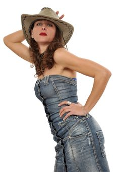 Free Cowgirl Pinup Stock Photos - 8546933